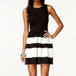 Bar III Black and White Dress